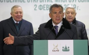 Rustam Minnikhanov: ''Thanks to TAIF Group, there is a modern parking for almost a thousand cars''