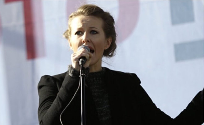 ''Ksenia Sobchak's slogan 'against all' sounds like a teenager's protest''