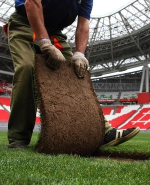 Vladimir Leonov: 'New turf at Kazan Arena is due to host the national team of Russia this year'